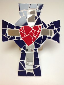 Mosaic cross by Broken Free